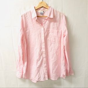 Old navy the classic shirt XL pink button down top
